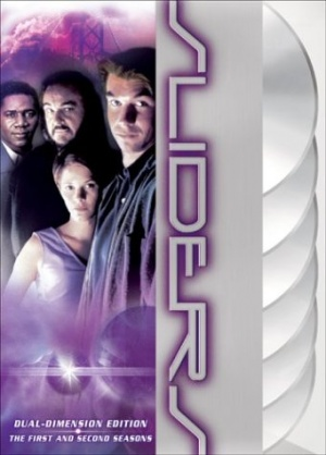 "Sliders is an American science fiction and fantasy television series created by Robert K. Weiss and Tracy Tormé. It was broadcast for five seasons between 1995 and 2000. The series follows a group of travelers as they use a wormhole to ""slide"" between different parallel universes. Tormé, Weiss, Leslie Belzberg, John Landis, David Peckinpah, Bill Dial and Alan Barnette served as executive producers at different times of the production. For its first two seasons it was produced in Vancouver, British Columbia, Canada. It was filmed primarily in Los Angeles, California, USA in the last three seasons."