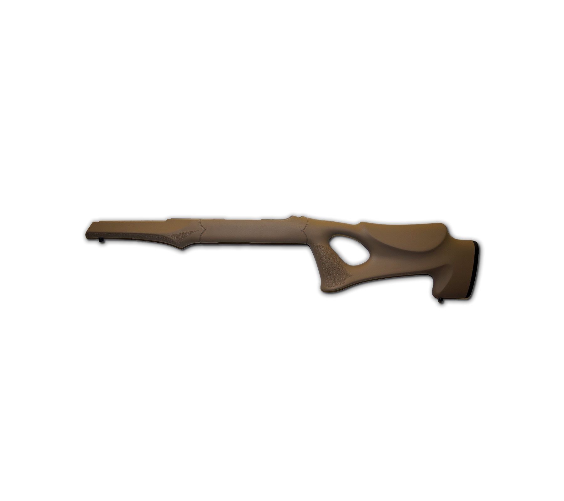 Hogue 10-22 Tactical Thumbhole Stock .920 Barrel Channel Earth Tan OverMolded Rubber