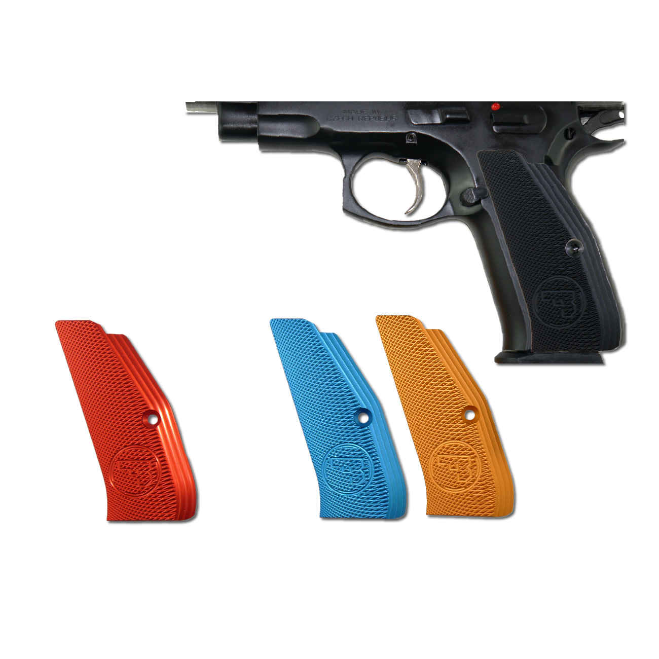 CZ Low Profile Grips, Black anodized Aluminum