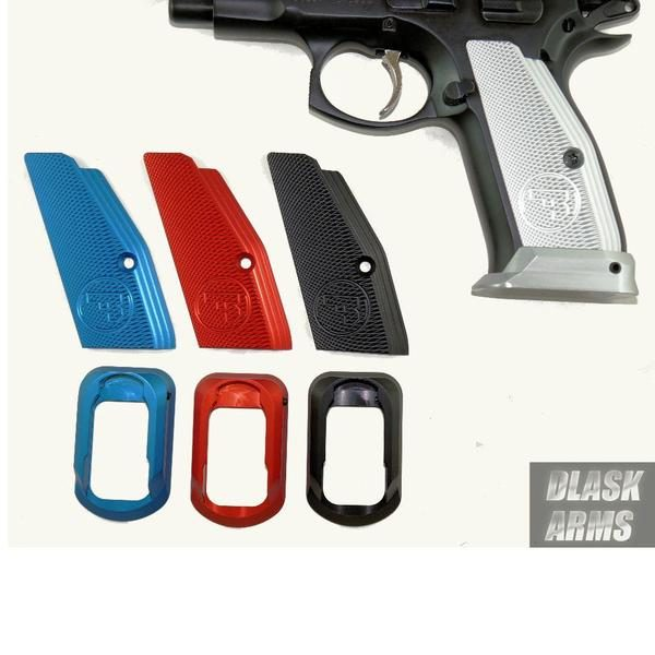 CZ 75 Low Profile Aluminum Grips, Magwell and Mag Pads